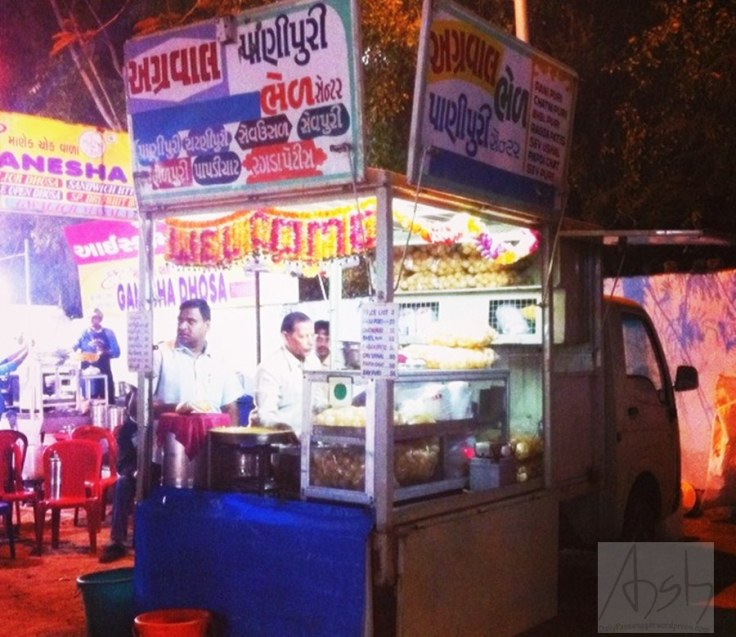 A Street food stall at Law Garden Evening Market