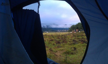 Camping in moutains