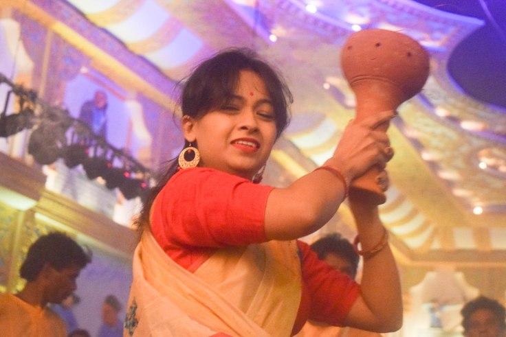 Dhanuchi dance Durga Puja