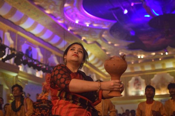 Dhanuchi dance Kolkata