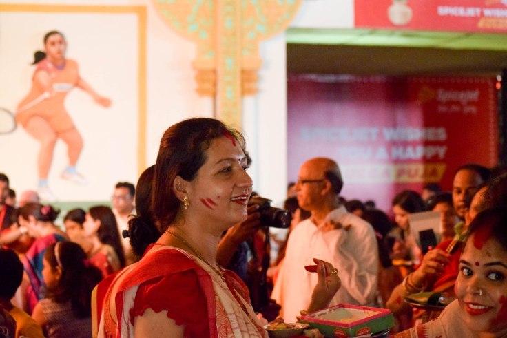 Sendur Khela durga Puja ritual
