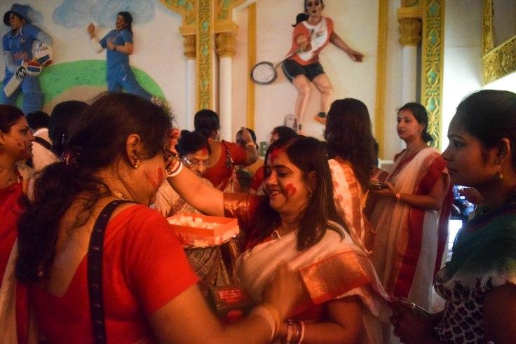 Durga Puja dashmi rituals bengal