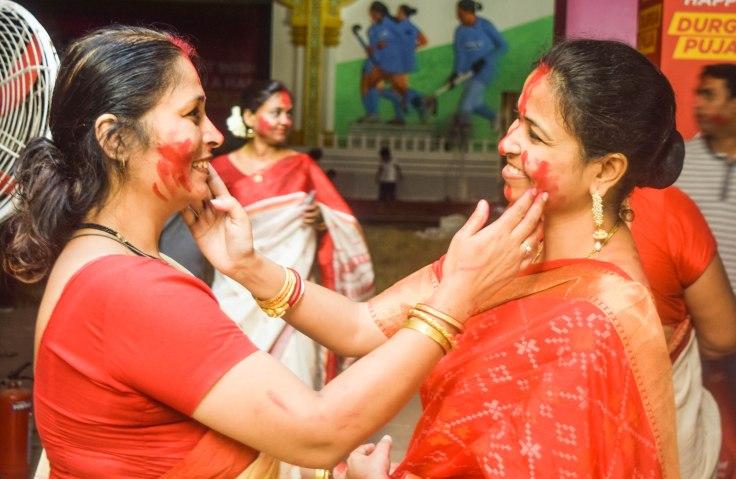 Sendur Khela Durga Puja