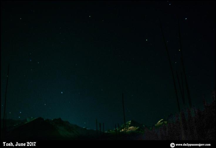 Tosh Kasol star trails