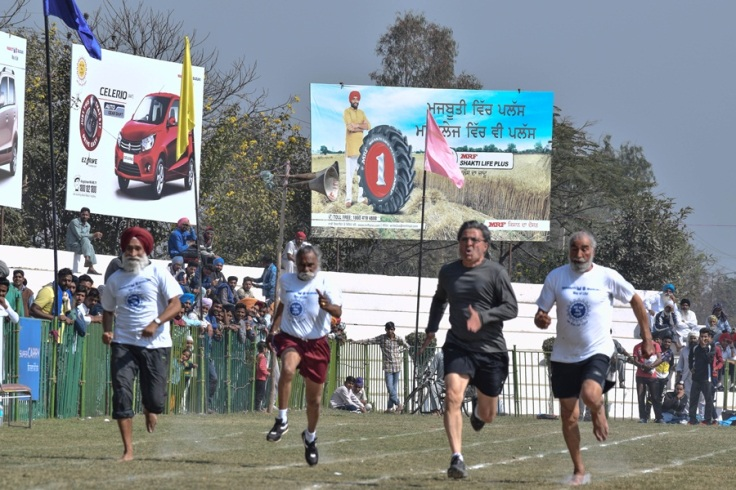 100 meter sprint for senior citizens