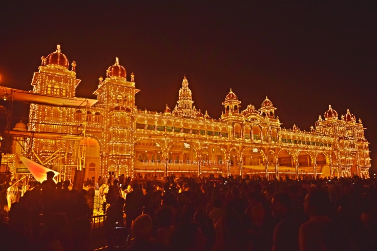 Mysore Palace lighting